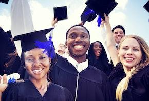 Diverse International Students Celebrating Graduation