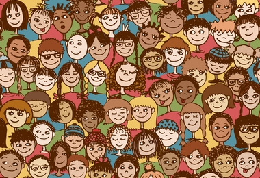 Kids seamless pattern
