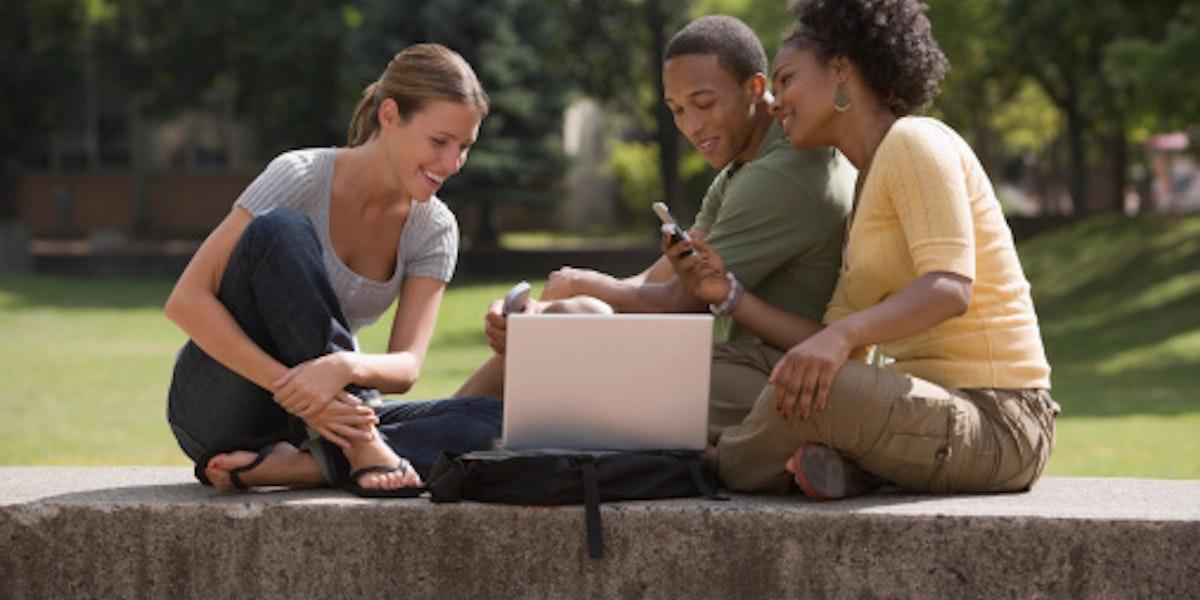 People using laptop computer