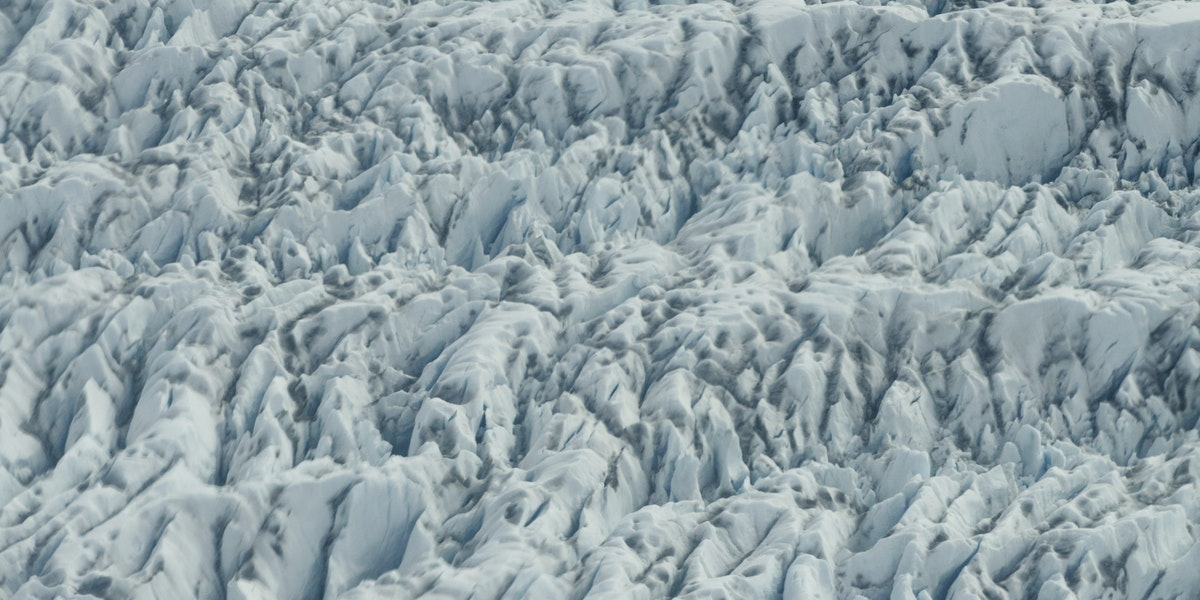 Textured surface of a Glacier
