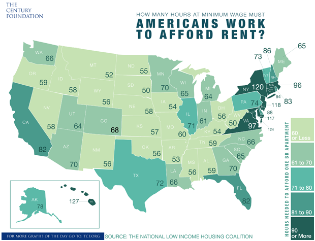 Graph Where Can You Live On Minimum Wage - Minimum wage us map