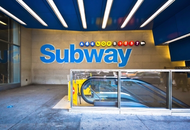 NYC Subway Station Entrance