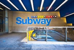 NYC Subway Station Entrance