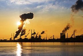 IJmuiden industry sunset