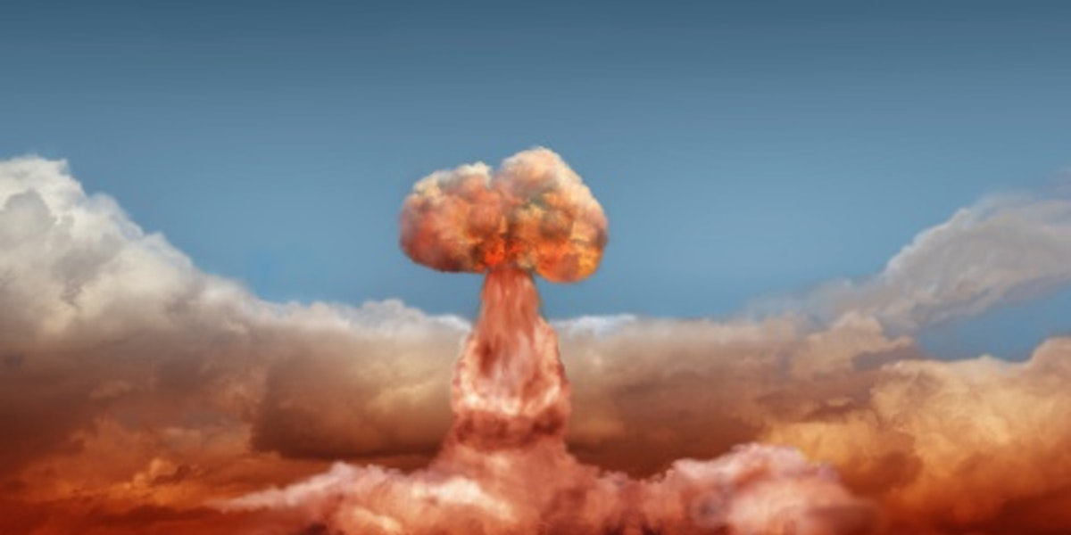explosion of atomic bomb