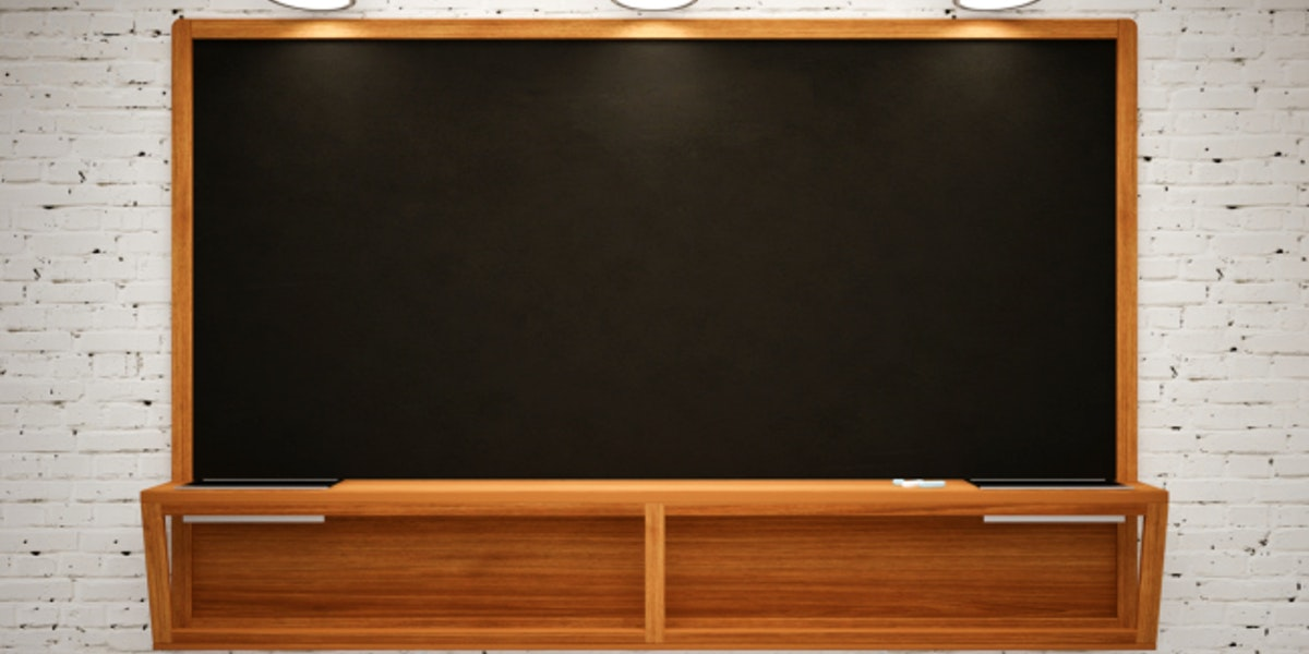 Blank Black School Chalk Board