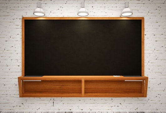 Blank Black School Chalk Board