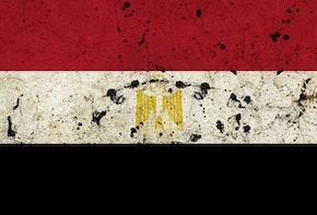 Egypt dirty grunge flag