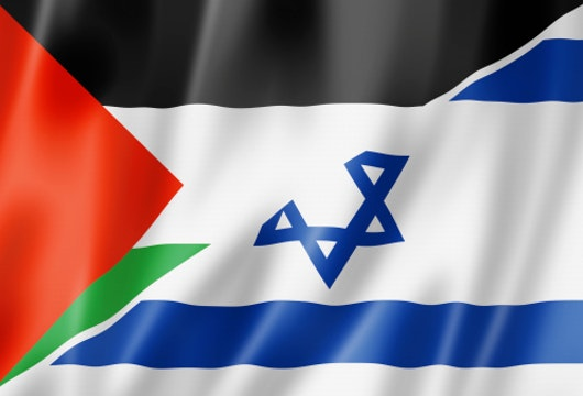 Palestine and Israel flag