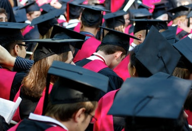 Harvard University Graduates on Commencement Day