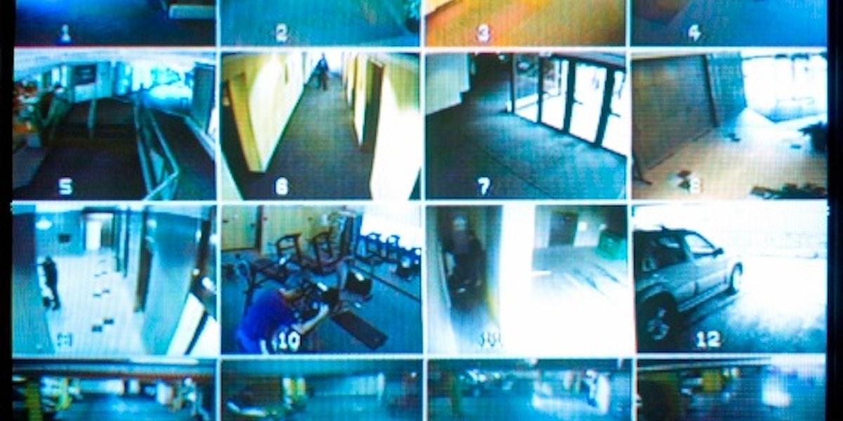 Security camera monitor.