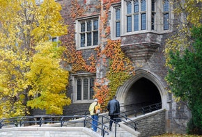University building in fall