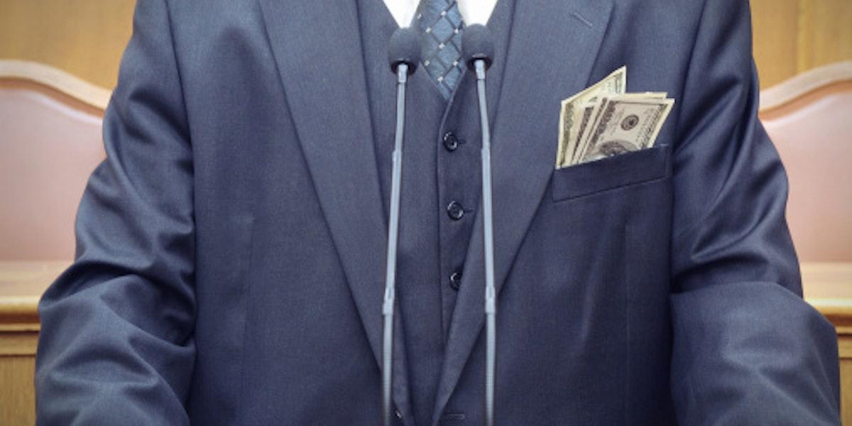 Bribery concept