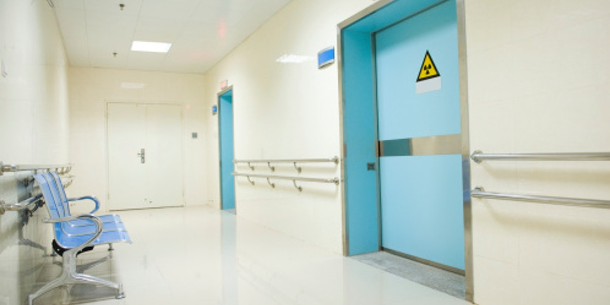 chairs in hospital hallway