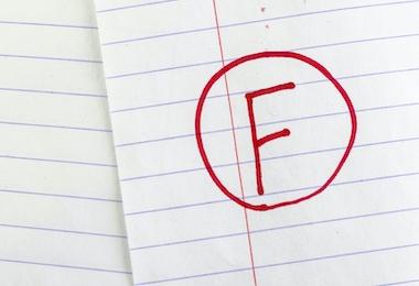 grade f on line paper background