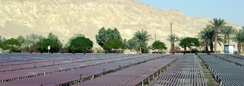 Aquaculture in Kibbutz Ketura in the Negev Desert. Source: Wikipedia.