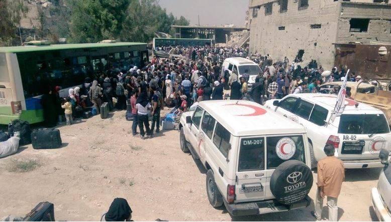 Darayya Evacuation. Source: دمشق الآن.