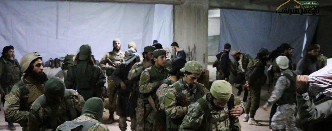 Fateh al-Sham fighters prepare to storm west Aleppo. Source: Fateh al-Sham Front Telegram.