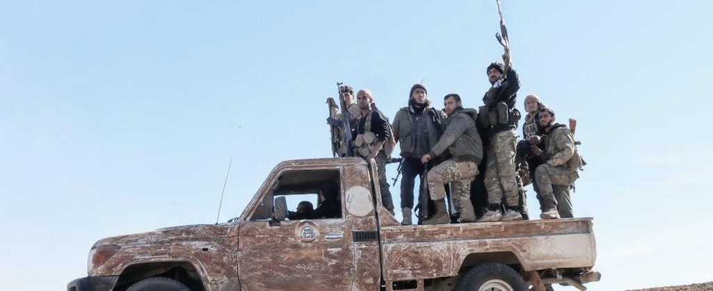 Euphrates Shield rebels on the move. Source: @shamfront.