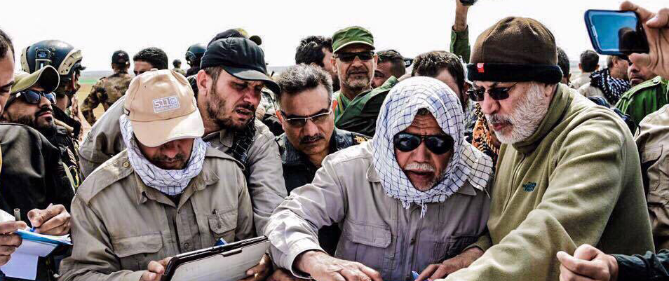 PMU leader Abu Mahdi al-Muhandis (far right). Source: Hashd media Facebook.