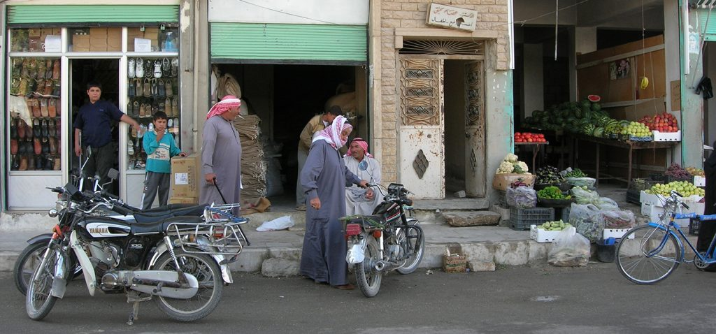 A street view of Manbij © Jacky Lee, Wikipedia Commons