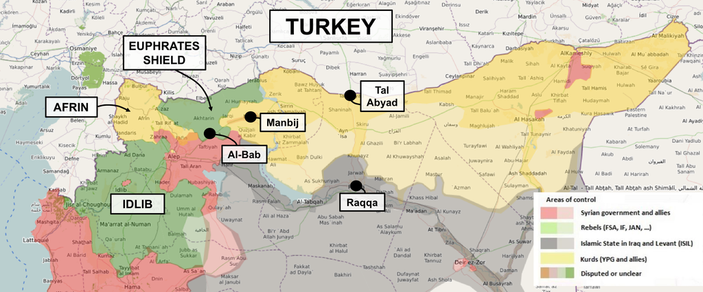 Turkeys Turkey First Syria Policy - Map of syria and turkey
