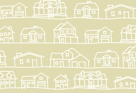 Basic & stylish vector drawing of houses.