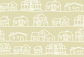 Basic & stylish vector drawing of houses.