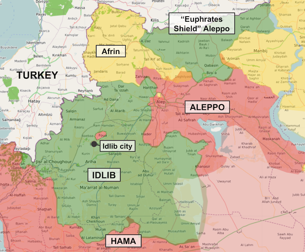 Turkey Through The Syrian Looking Glass - Map of syria and turkey
