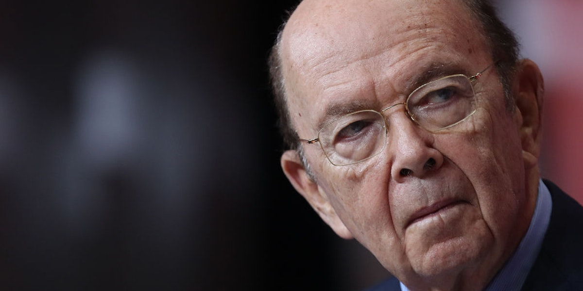 NATIONAL HARBOR, MD - JUNE 22:  U.S. Secretary of Commerce Wilbur Ross speaks at the SelectUSA 2018 Investment Summit June 22, 2018 in National Harbor, Maryland. The investment summit encourages direct foreign investment in companies across the United States.  (Photo by Win McNamee/Getty Images)