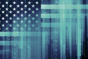 American flag - cyber security