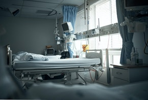 Cropped shot of an empty recovery room in a hospital