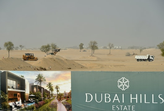 DUBAI, UNITED ARAB EMIRATES - SEPTEMBER 14:  A general view of the construction site of Dubai Hills Estate on September 14, 2016 in Dubai, United Arab Emirates.  (Photo by Tom Dulat/Getty Images)