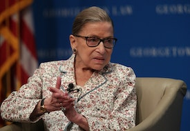 WASHINGTON, DC - JULY 02:  U.S. Supreme Court Associate Justice Ruth Bader Ginsburg participates in a discussion at Georgetown University Law Center July 2, 2019 in Washington, DC. The Georgetown University Law Center's Supreme Court Institute held a discussion on
