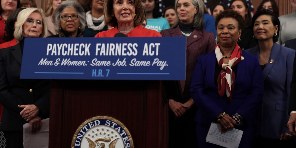 WASHINGTON, DC - JANUARY 30:   U.S. Speaker of the House Rep. Nancy Pelosi (D-CA) speaks during a news conference at the U.S. Capitol January 30, 2019 in Washington, DC. House Democrats held a news conference to introduce the