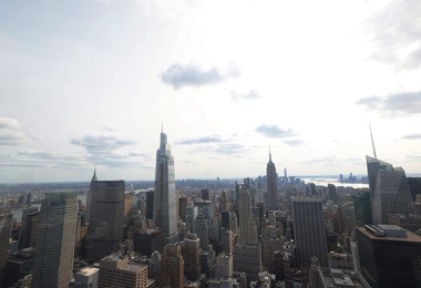 NEW YORK, NEW YORK - SEPTEMBER 14: The One Vanderbilt building stands among the Midtown Manhattan skyline as seen from the Top of the Rock on September 14, 2020 in New York City. The One Vanderbilt building, the second-tallest New York City office building, opens up amid the coronavirus (COVID-19) pandemic when many city employees are working from home. (Photo by Michael M. Santiago/Getty Images)